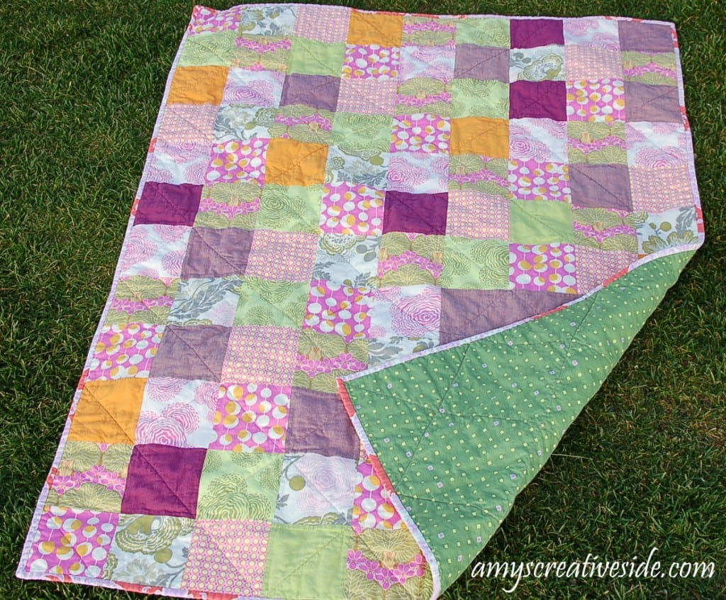 Boxed Charms Quilt/Back