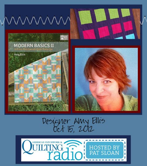 Pat Sloan American Patchwork and Quilting radio Amy Ellis guest