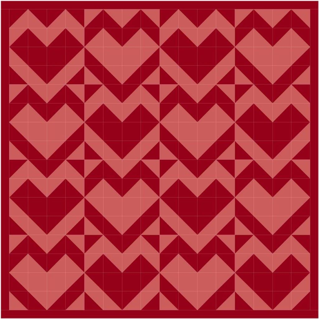 heart quilt 1024x1024 Happy Valentines Day from Quiltmaker