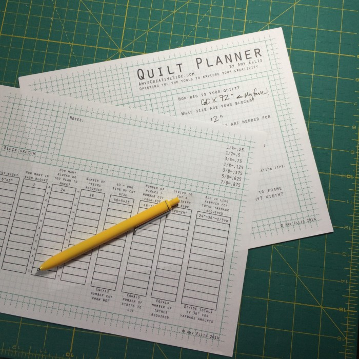 Quilt Planner - AmysCreativeSide.com