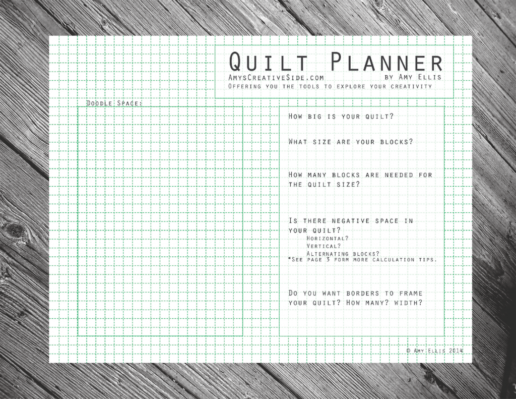 Quilt Planner - AmysCreativeSide.com