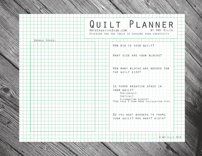 The Quilt Planner!