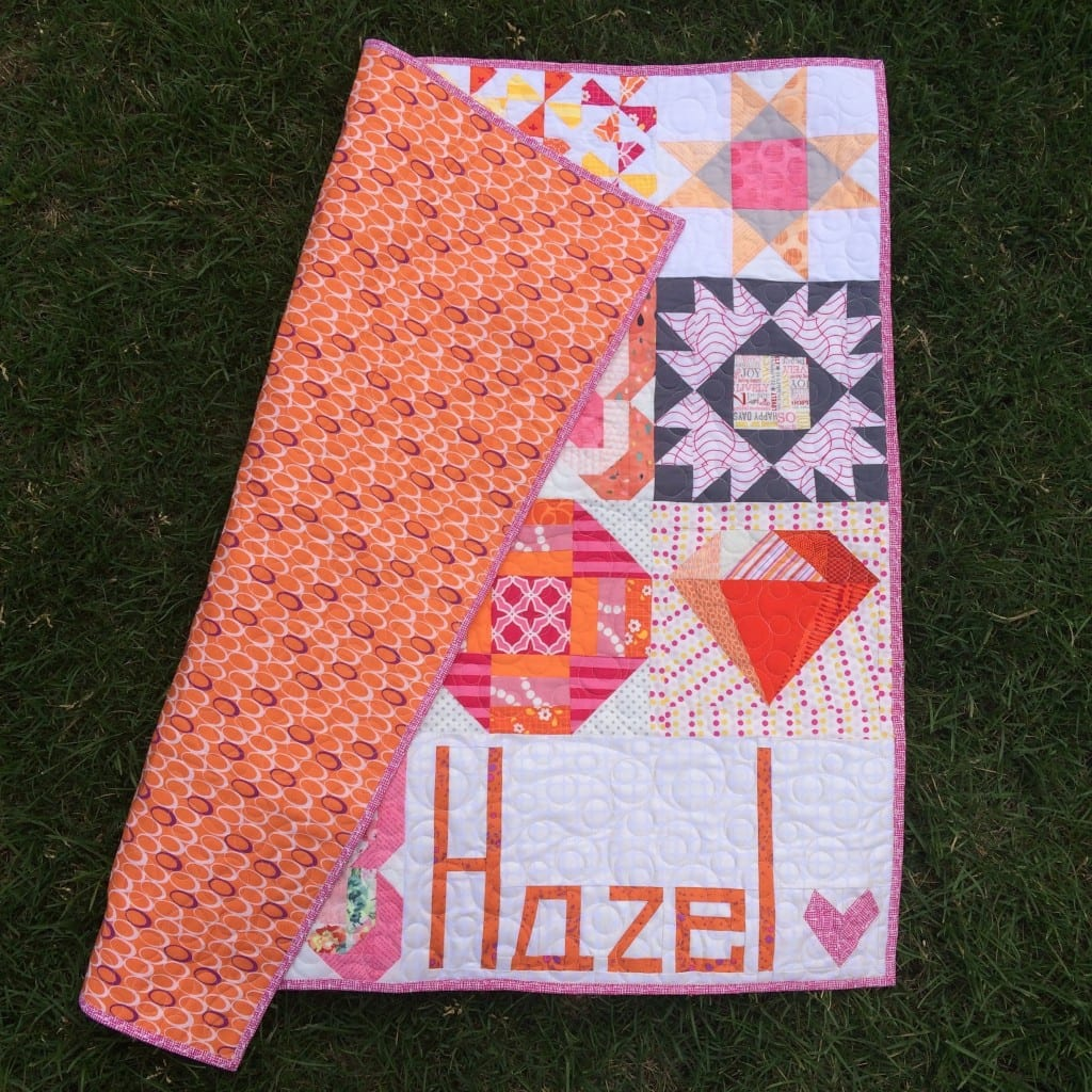 Hazel's Quilt made with love - AmysCreativeSide.com