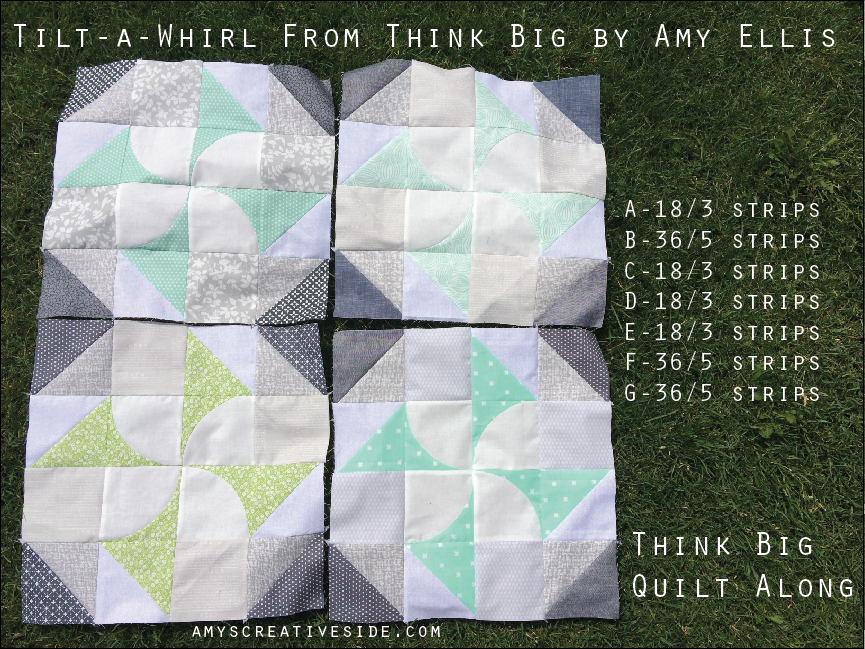 Tilt-a-Whirl - Think Big Quilt Along - AmysCreativeSide.com