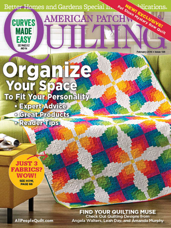 American Patchwork & Quilting 2/16 Issue - AmysCreativeSide.com