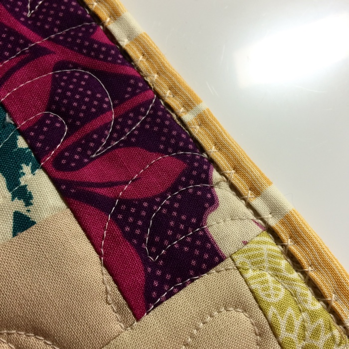machine stitching quilt binding