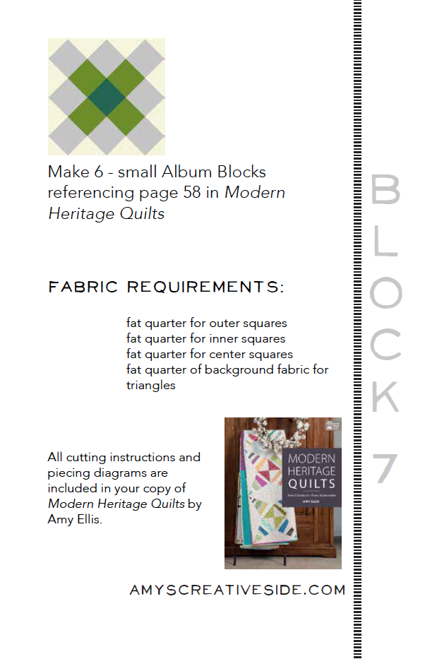 Modern Heritage Quilts BOM 2 - AmysCreativeSide.com