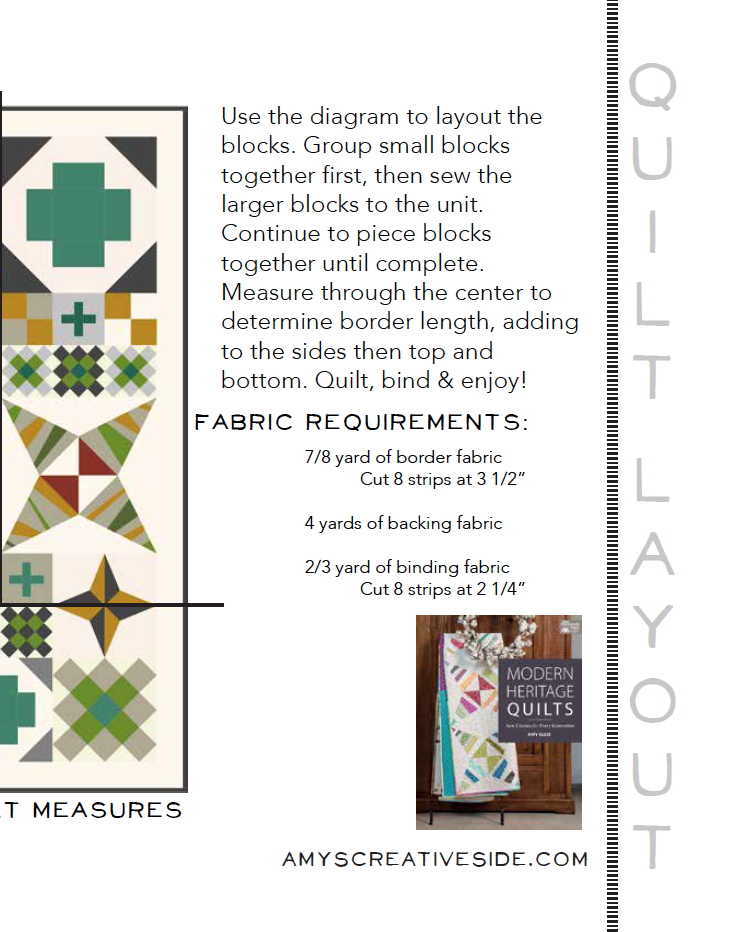 Modern Heritage Quilts BOM 3 - AmysCreativeSide.com