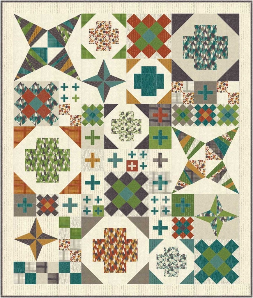 Modern Heritage Quilts BOM in Adventures - AmysCreativeSide.com