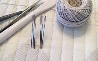 Hand quilting tools that I've been using recently.