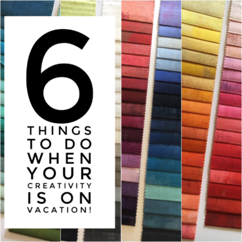 6 things to do when your creativity is on vacation!