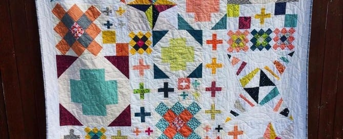 Scrappy Modern Heritage Quilts BOM Quilt Project - Amyscreativeside.com