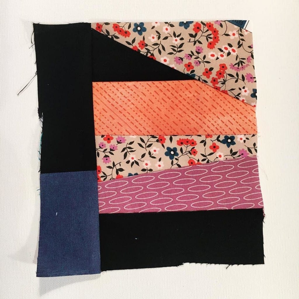 #100DaysofQuiltImprov Day 24 by Amy Ellis - Amyscreativeside.com