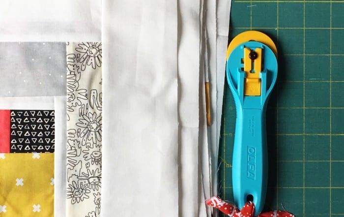 Trimming Improv Blocks with OLFA's NEW Endurance Rotary Blade + Giveaway! AmysCreativeSide.com