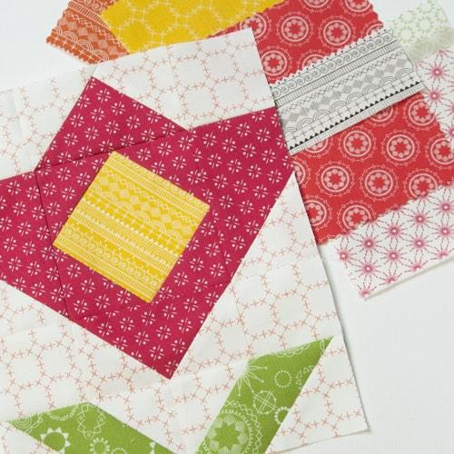 Bouquet in Wanderlust fabrics by Amy Ellis