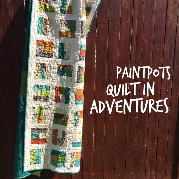 Paintpots is a fun and easy Jelly Roll Quilt, shown here in a twin size, made using one Jelly Roll!