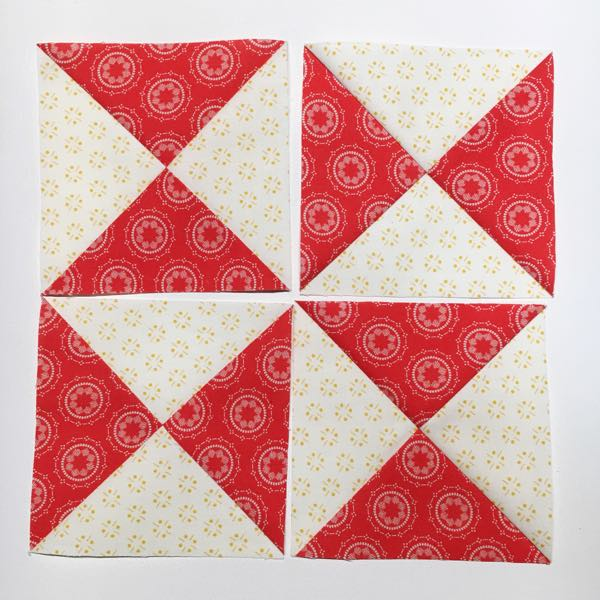 Heartland Heritage March Star Bright Block - Hourglass details  by Amy Ellis