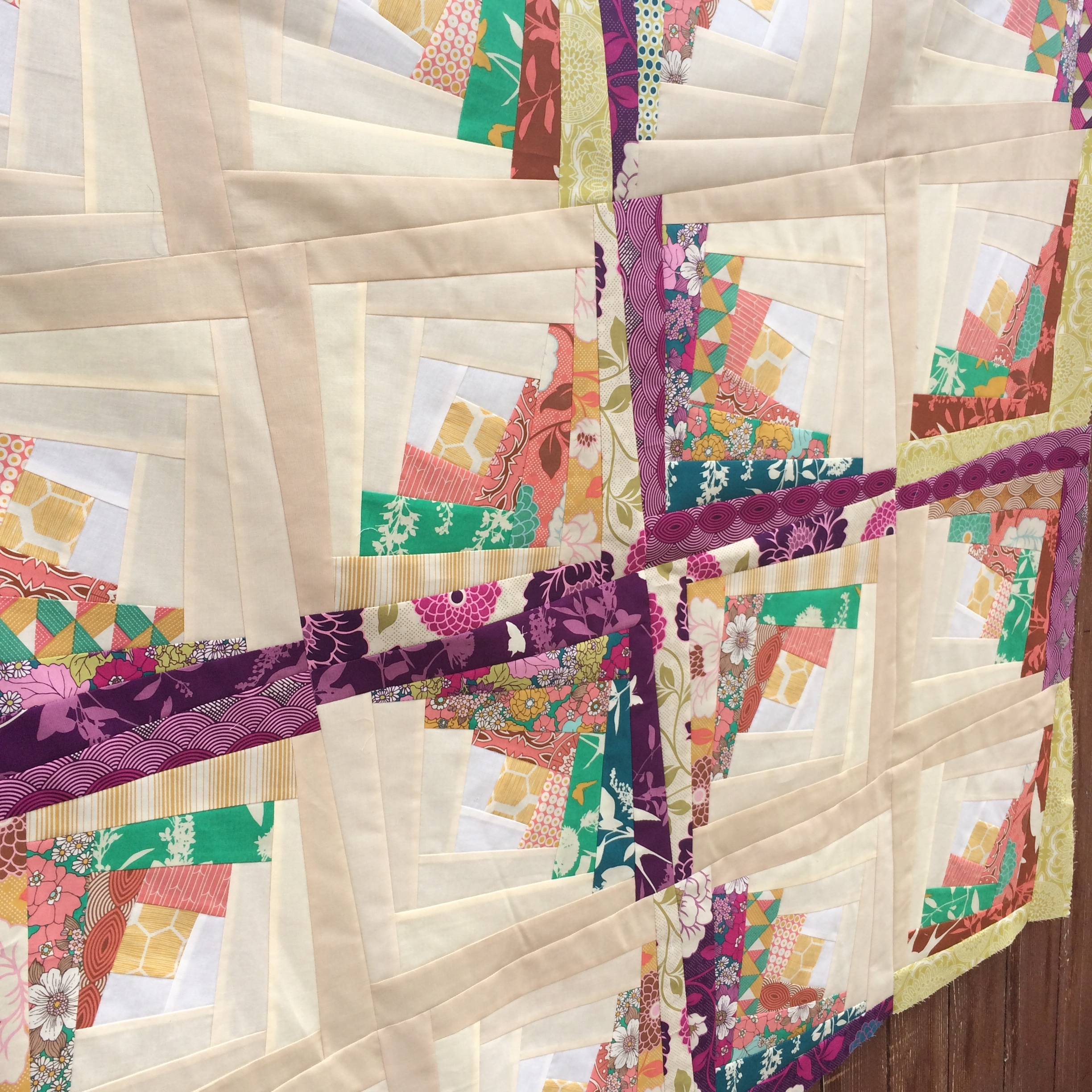 Twisted Log Cabin From Quilt In A Day Amy S Creative Side