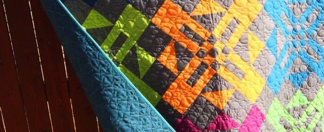 Turnstyle quilt pattern by Amy Ellis in Moda Cross Weave fabrics - AmysCreativeSide.com