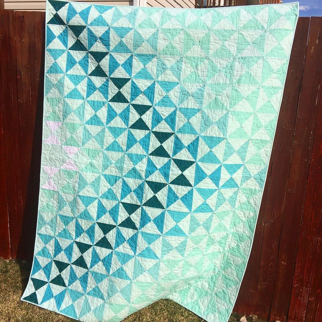 Dimensions Quilt Pattern in Aqua