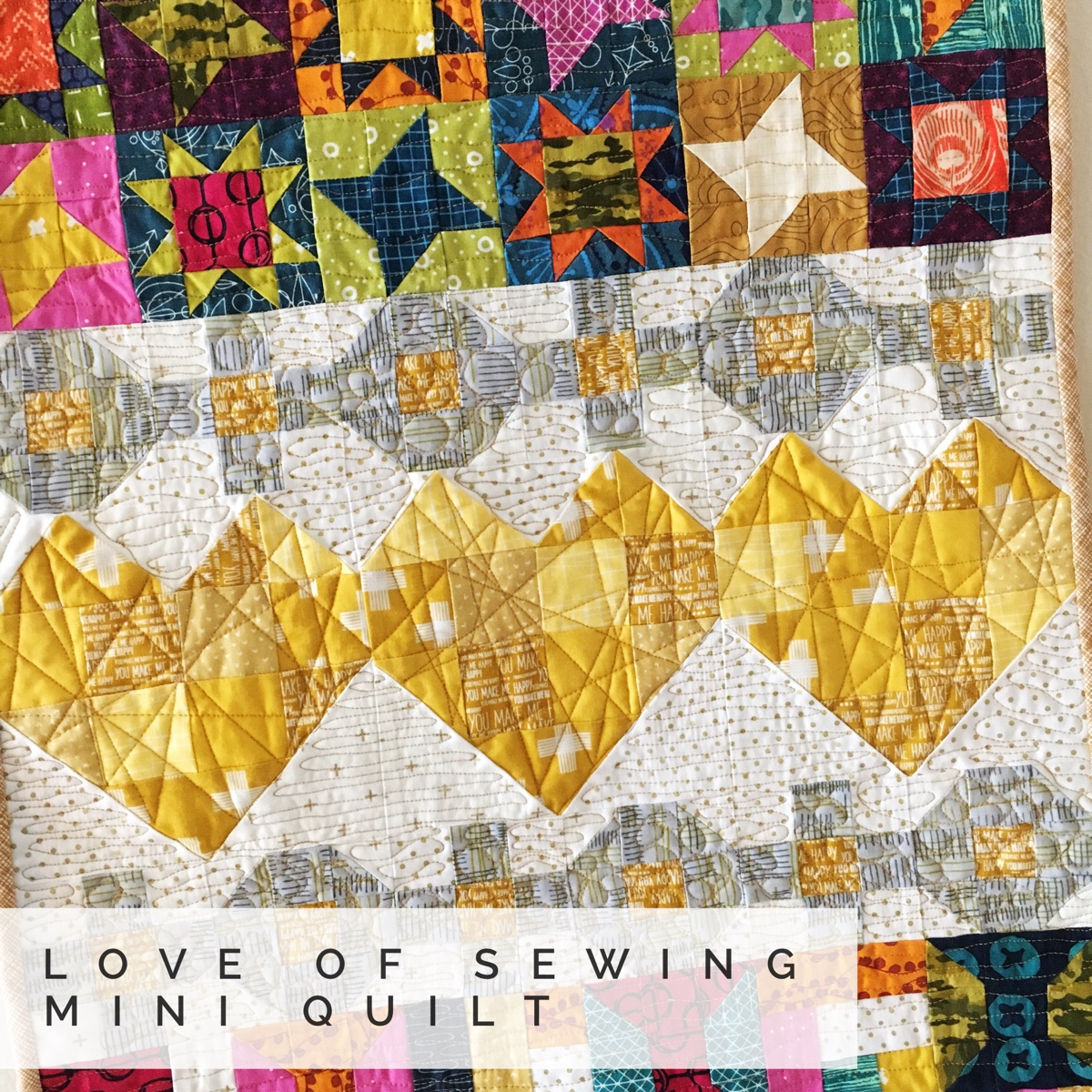 Love of Sewing Challenge – Free Mini Quilt Tutorial!