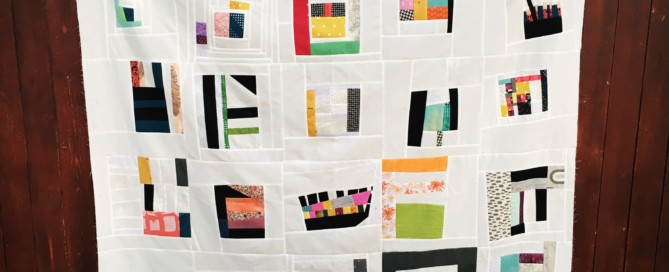 #100DaysofQuiltImprov Quilt Top #1 by Amy Ellis - Amyscreativeside.com
