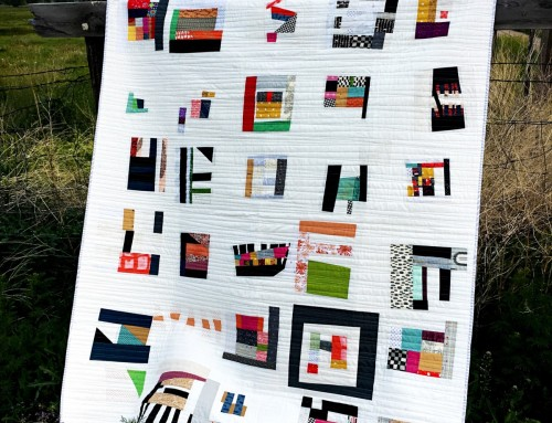 #100daysofquiltimprov Finished Quilt