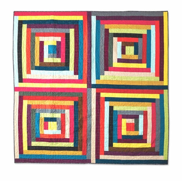 Chromatic Cabins by Amy Ellis for CuratedQuilts.com