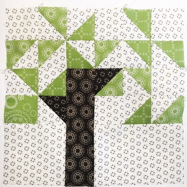 Willow Tree block from Heartland Heritage by Inspiring Stitches