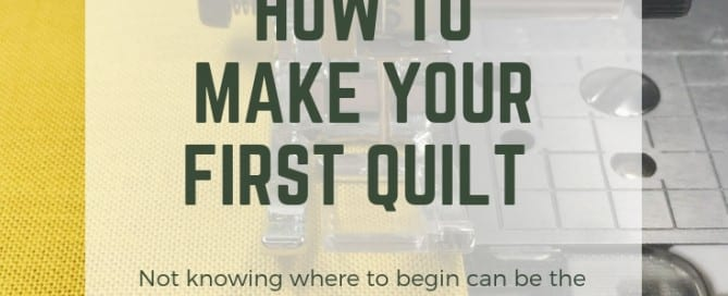 How to make your first quilt!