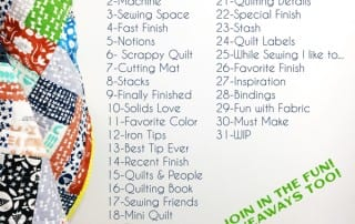 2019 #IGQuiltFest All Prompts - Amyscreativeside.com