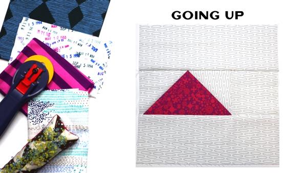 Modern Quilt Block Series - Going Up Block Pattern by Amy Ellis