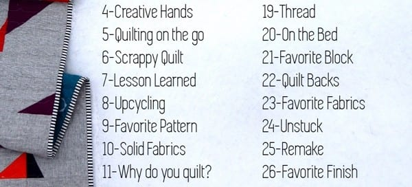 Daily Prompts #IGQuiltFest2020