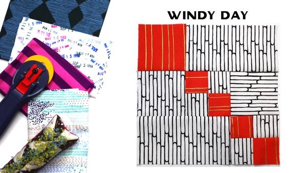 Modern Quilt Block Series - Windy Day Block Pattern by Amy Ellis