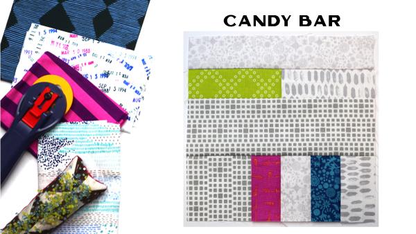 Modern Quilt Block Series - Candy Bar Block Pattern by Amy Ellis