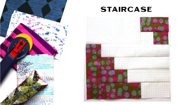 Modern Quilt Block Series - Staircase Block Pattern by Amy Ellis