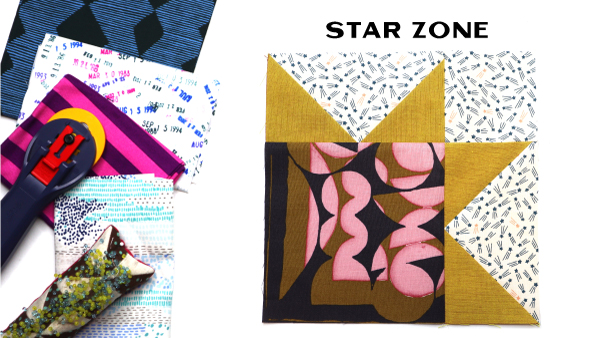 Modern Quilt Block Series - Star Zone Block Pattern by Amy Ellis