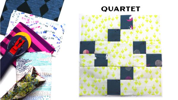 Modern Quilt Block Series - Quartet Quilt Block Pattern by Amy Ellis