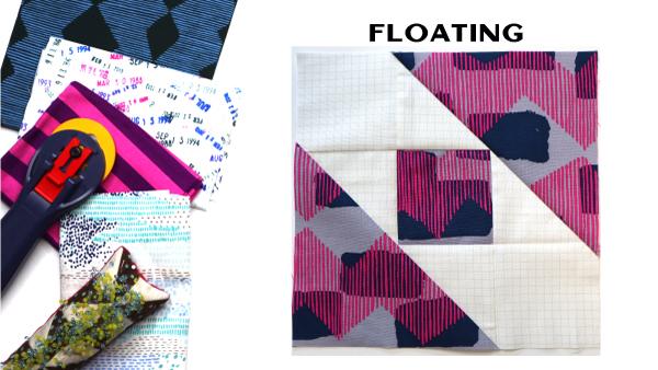 Modern Quilt Block Series - Half Full Quilt Block Pattern by Amy Ellis